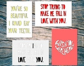 LOVE NOTES - set of 4 note cards