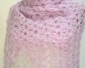 ON SALE Crochet Shawls Hand Crocheted  lavender lilac Shawl scarf poncho shrug