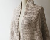 Reserved    Spring Scarf shawl Knitting Hand Knitted Cotton Spring Shawl Champagne Crochet  Edge For mothers