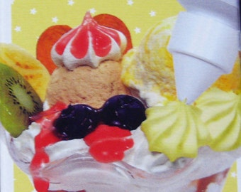 TAMIYA Dessert Topping Master (Yellow custard) whip cream icing with nozzle for crafts 100ml