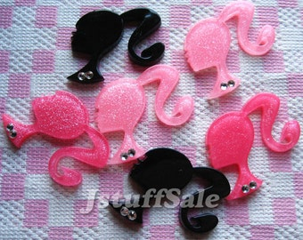 Large Barbie ponytail cabochons 6 pcs (290) Mixed color
