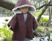 Fur lined hooded Jacket fits American Girl