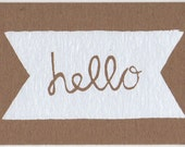 hello card - original silkscreen print