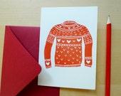 Love Sweater Valentine's Day Card