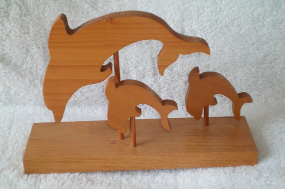 wood dolphins