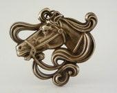 Art Nouveau Pendant -  Horse Pendant - DIY Necklace  - Finding Vintage Brass Jewelry - DIY Jewelry