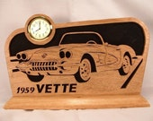 Corvette 1959 Desk or Shelf Clock