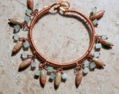Sunburst Copper Wire Wrapped Bangle