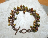 Autumn Bracelet - Copper and Freshwater Pearls