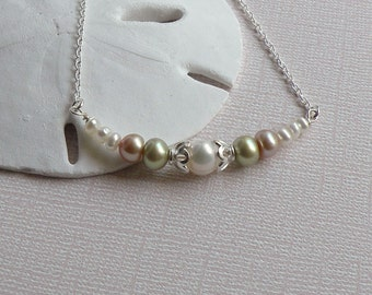 Pearls and Sand Necklace