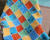 Sale...Traffic Jam Rag Quilt Set