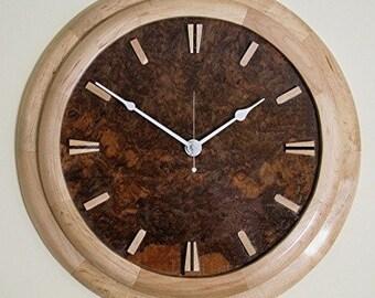 Wall Clock--Art Deco--Maple Surround