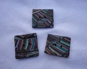 Motherlode Squares Polymer Buttons
