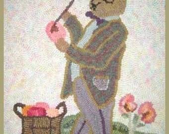 Hooked Rug for Easter Season - Mr. E. B. Eggstraordinaire
