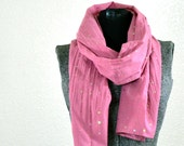 Rose Sequin Cotton Fabric Scarf