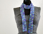 Pastel Rainbow Knit Scarf/Belt