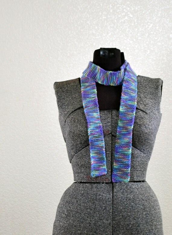 Pastel Rainbow Knit Scarf/Belt