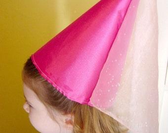 Satin and Sheer Princess Hat