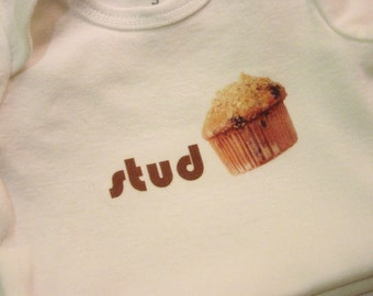 SALE Studmuffin Baby Bodysuit (sizes newborn to 24 months)