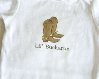 Lil' Buckaroo Baby Bodysuit (sizes newborn to 24 months)