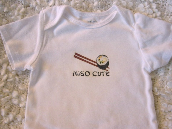 Long-Sleeved Miso Cute Baby Bodysuit (sizes newborn to 24 months)