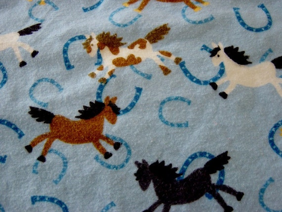 Giddyup Horsie Giant Swaddling Blanket