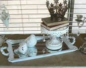 Shabby Chic  Mirrored  Tray   for Vanity or Buffet/Table display Centerpiece