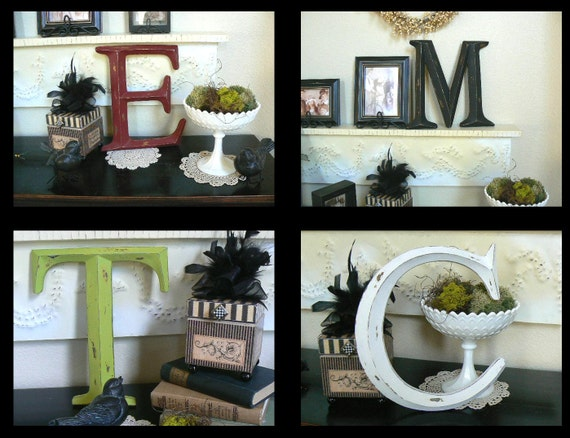 Wall Letter     Pottery Barn style    Custom  Order  in your choice of initial and color