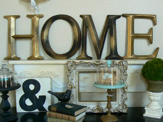 Wall letters spell home custom order for Home decor and accents