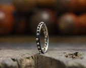 26 Holes Silver Ring