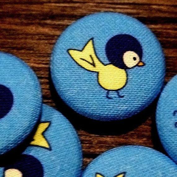 space bird blue