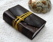 The Garden Journal - Dark Brown Leather Journal with Fabriano Eco Paper