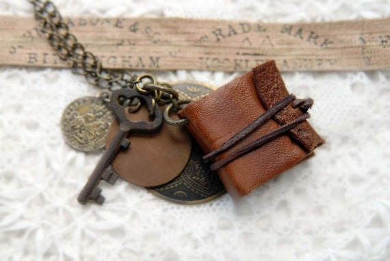 ON SALE - Old, Found & Folded - Miniature Wearable Book