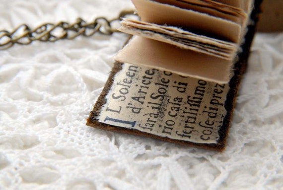 ON SALE - Le Petit Artiste - Reclaimed Brown Leather Wearable Sketchbook with Tea Stained Pages