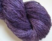 Peace Silk Lace Handspun Naturally Dyed Yarn lila