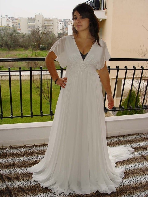 Reserved Listing For Laura - Grecian Style Wedding Dress