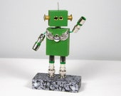 Take 10% off for Father's Day GEORGE Found Object   Robot Sculpture Assemblage