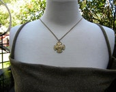 Maltese Cross Catholic Four Way Medal Vintage 1/20th 12KT Gold Creed Necklace Pendant