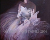 Ballerina Dancer Painting-Original Wall Art Oil Painting-24x30 Ballet Dance Gift Ideas