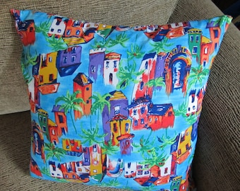 Pillow Cover Colorful Tropical 18 Inch