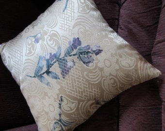 Pillow Cover Beige Floral 18 Inch