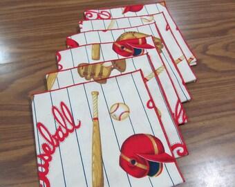 Cloth Napkins Baseball