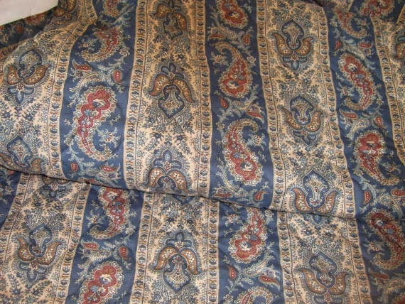 Vintage Pre-Quilted Paisley  Fabric