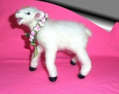 Needle Felted Animal, Lamb, Handmade, Wool, Lamb Collectible