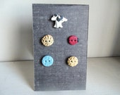RESERVED for Stitching34 Puppy etc Hand Made Buttons for special order