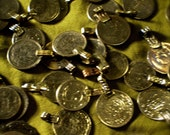 4 Vintage Coin Charms