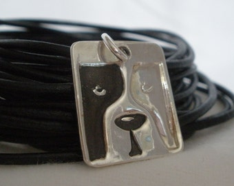Silver Bully Breed Dog Charm - Featured Treasury Item