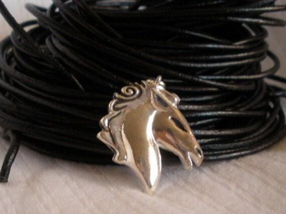 Horse Head Pendant - Silver