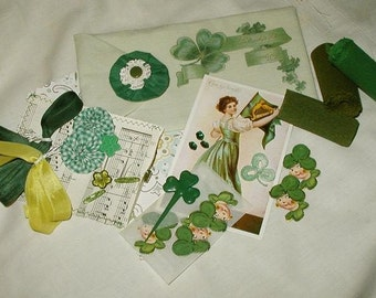 St. Patrick's Day Ephemera  Embellishment Pocket