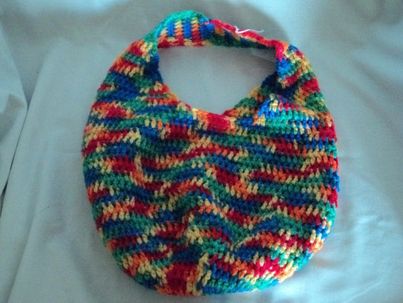 Crochet bag - rainbow colors - shopping bag - Market bag - dance bag - beach bag